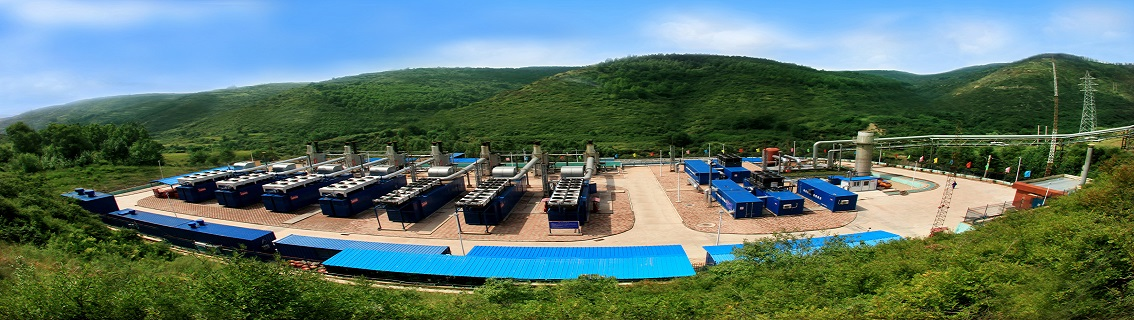 image panoramique de gas engines