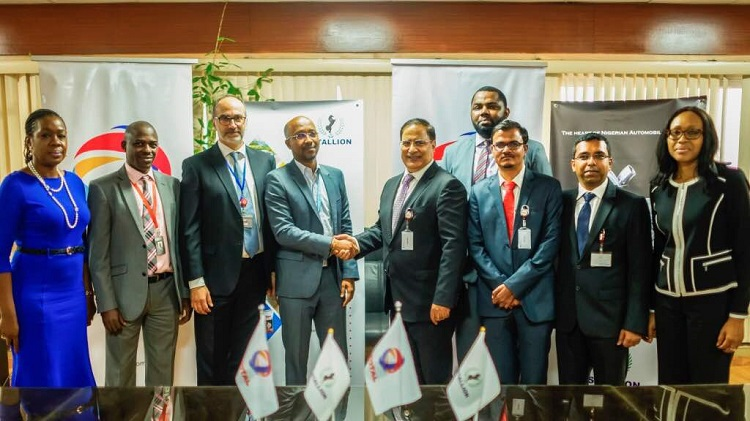 Total Nigeria Plc and Stallion Group Automotive members (Stallion NMN and Hyundai Motors Nigeria Ltd) signed an agreement for exclusive Lubricant supply on September 18, 2018.
