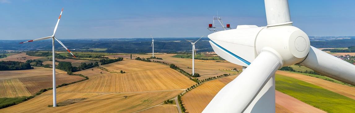 image panoramique wind turbines