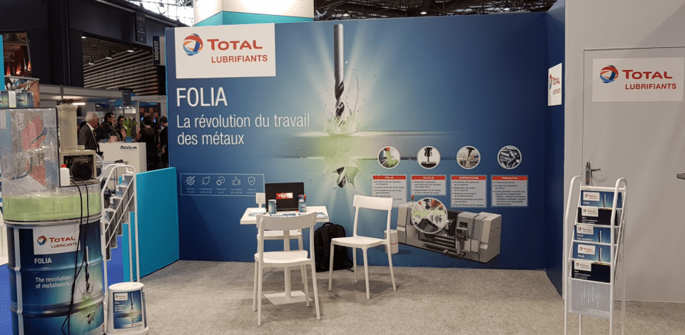 Total Lubrifiants' stand for Folia at 2019 Global Industrie